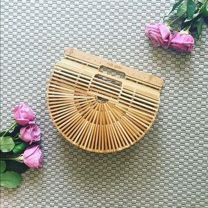 Handbags - AUTHENTIC Cult Gaia straw wicker bamboo bag SMALL